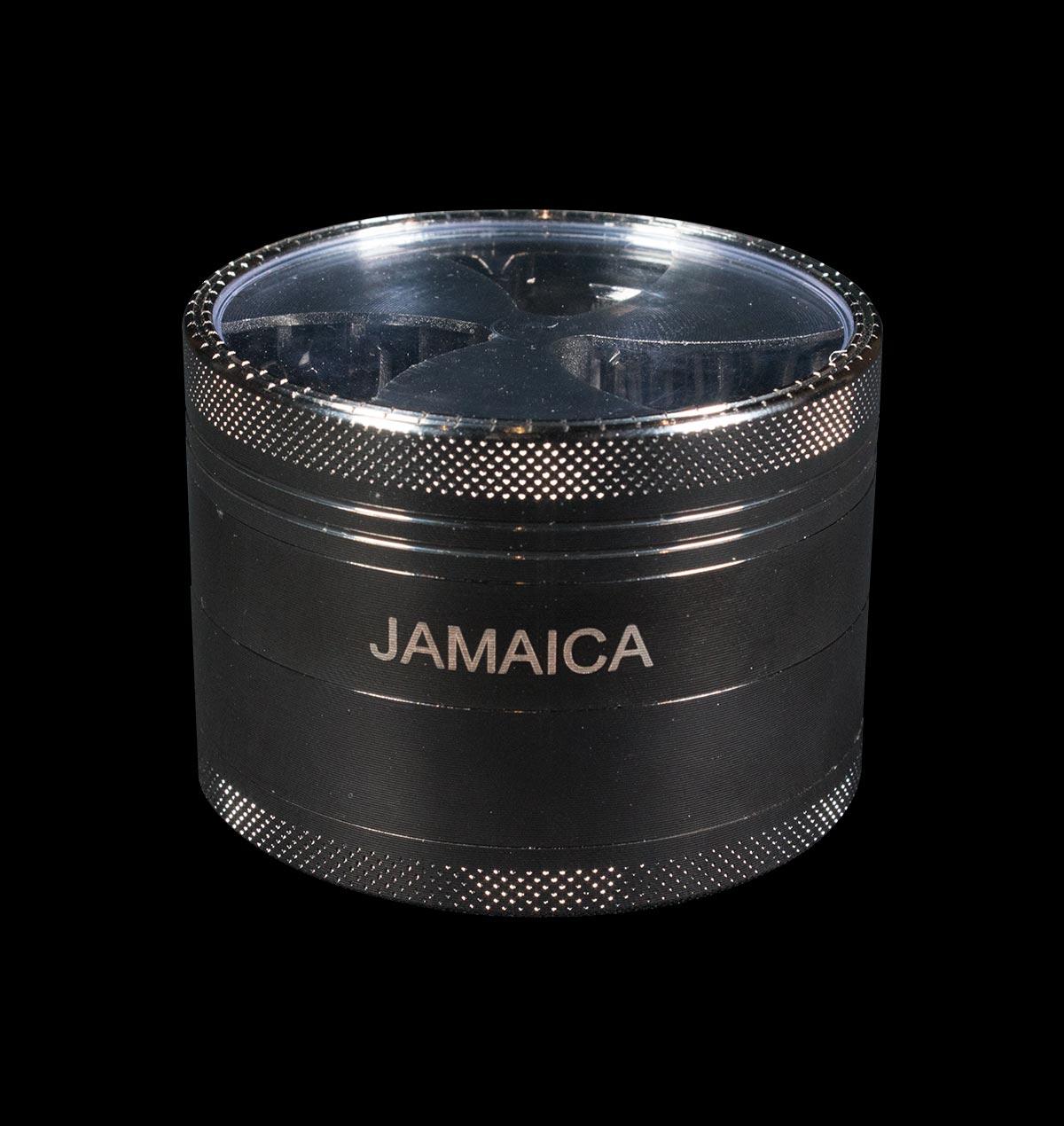 Glass Lid Metal Jamaica Grinder
